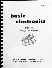 Vacuum Tube Audio Book- BASIC ELECTRONICS V2 Mcintosh Fisher, Dynaco EV TUBE AMP