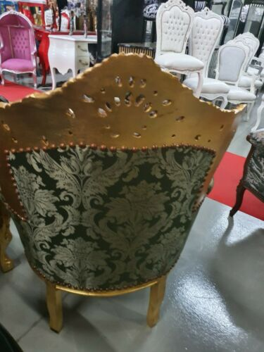 ARMCHAIR - PALACE BAROQUE STYLE ARMCHAIR GREEN #MB200GG