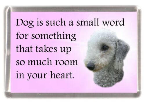 """Bedlington Terrier Dog Fridge Magnet /""""Dog is such a small word..../"""" by Starprint"""