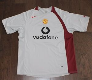 the latest edf1e 2f6e8 Details about Nike Manchester United Red Devils MAN U Soccer Jersey TOTAL  90 Men Large L Gray