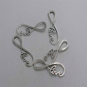 4pcs-Antique-silver-plated-love-infinity-sign-pendant-connector-T0277