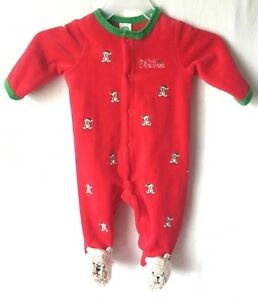 image is loading little me my first christmas pajamas sleeper footed