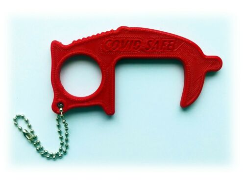 Key Chain Made from Eco Friendly Bio Plastic COVIDSAFE No Touch Tool