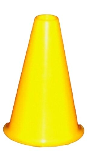 10 8 Inch Yellow Cheer Leading Megaphones Made in America Lead Free Recyclable