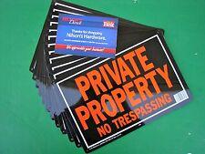 12pk Hy-Ko 10x14 Metal Aluminum Private Property No Trespassing Sign Rust Free