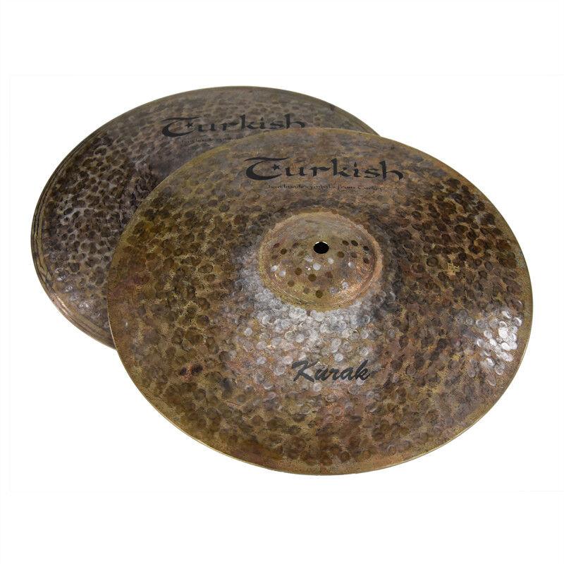 TURKISH CYMBALS cymbale Kurak 15  HiHat Hi-Hat 1161 1316g