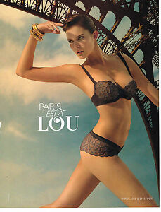 PUBLICITE ADVERTISING  2011   LOU  soutien gorge sous vetements