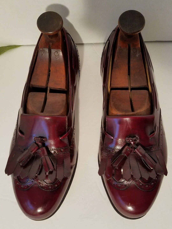 Salvatore Ferragamo Mens Loafer 8 EE Burgundy Leather Tassel new shoes shoes