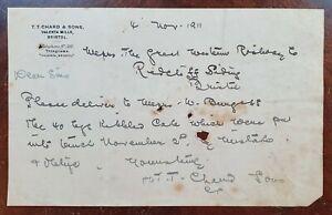 1911-T-T-Chard-amp-Sons-Valentia-Mills-Bristol-Letter
