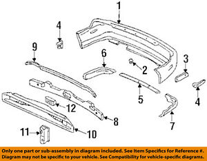 Details about HONDA OEM 95-97 Accord Rear Bumper-Impact Reinforcement on