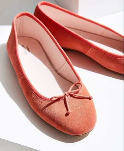 URBAN OUTFITTERS SUZI BALLET FLATS SHOES SIZE 8 100/% SUEDE LEATHER NIOB