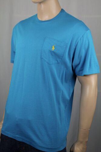 Polo Ralph Lauren Blue Crewneck Pocket Tee T-Shirt Yellow Pony NWT