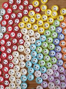 Ideal Baby//Dolls Knits Flower Shape Resin Buttons Size 12mm Various Colours