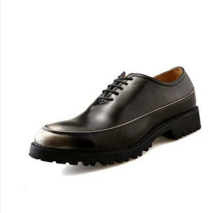 Oxfords Men leather height increasing business slip resistant Elevator shoes New