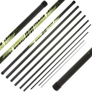 Polo Basher 11m completo de carbono de Carpa Pesca De Carpa Polo Con Tapa De Repuesto 3 secciones NGT