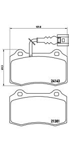 Brembo P 85 104 Bremsbelagsatz Scheibenbremse