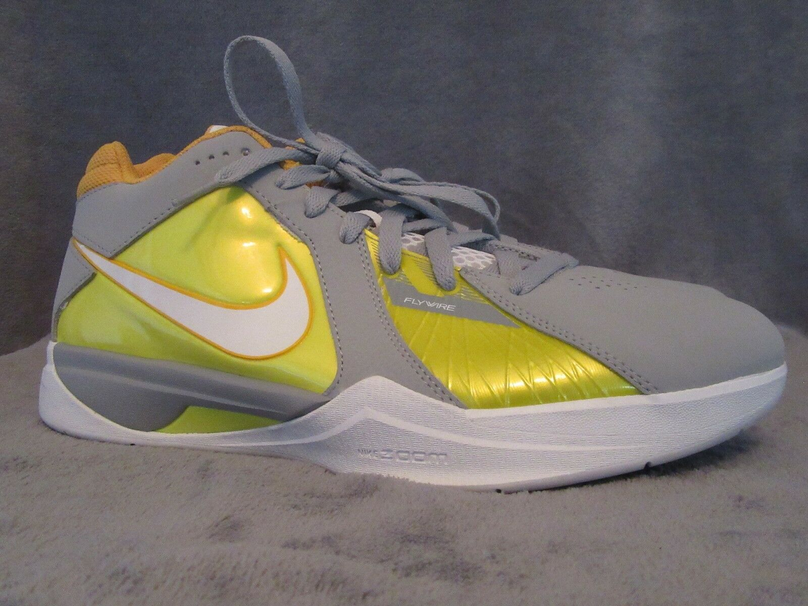NIKE Zoom KD III Wolf Grey Del Sol Flywire Basketball shoes US 10 M NWOB