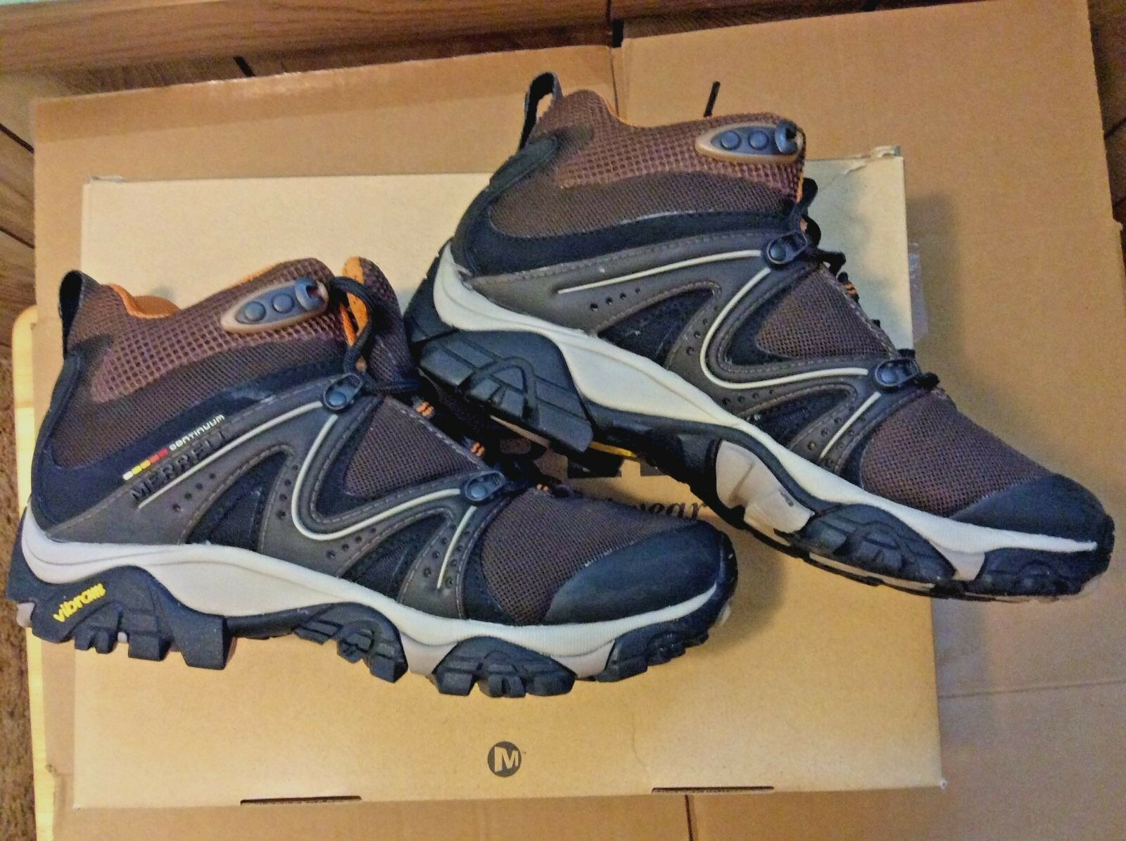 MERRELL REACTOR VENTILATOR MID HIKING Stiefel schuhe COFFEE damen Größe 8.5 NEW