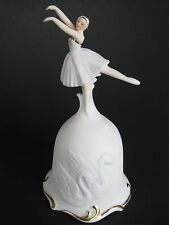 Queen Odette Swan Lake- Collector Bisque Bell- Ballerina Dancer 1980 Roman Inc.
