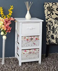 kommode schrank badregal weiss nachttisch mit 2 k rben. Black Bedroom Furniture Sets. Home Design Ideas
