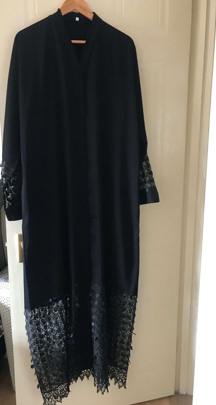 Modest/ Fashionable High Quality Open Abaya with Scarf