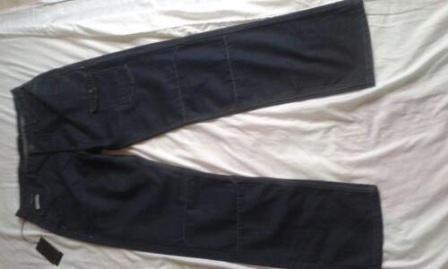 """Da Uomo Nuovo con Etichetta artigianale DARK BLUE Loose Fit Jeans Taglia 34/"""" Girovita 34/"""" Gamba"""