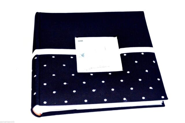 Pioneer Photo Album 200 Picture 4x6 Wedding Black w/ Frame Embroidered Polka Dot