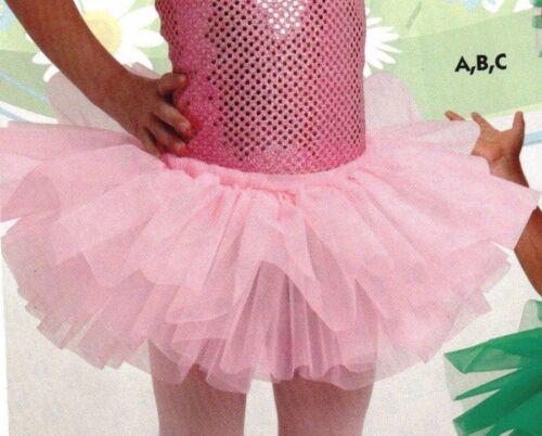 Tutu Organdy 3 Layer Raspberry or Rose Ballet Child Ladies Sizes NWOT