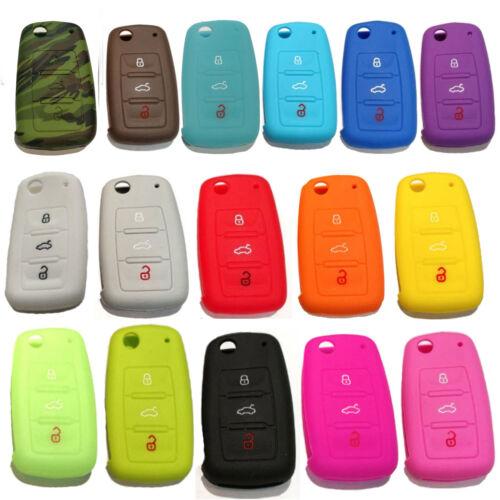 2 x Für VW Funk Schlüssel Autoschlüssel Silikon Hülle Cover Key Etui Schutzhülle