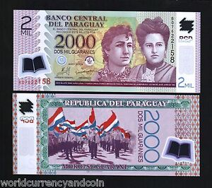PARAGUAY-2000-NEW-2009-SISTERS-UNC-POLYMER-034-B-034-BOOK-NOTE