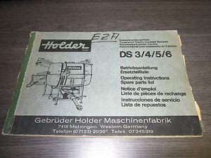 Holder-Betriebsanleitung-Ersatzteilliste-Dreipunktanbauspritzen-DS3-4-5-6