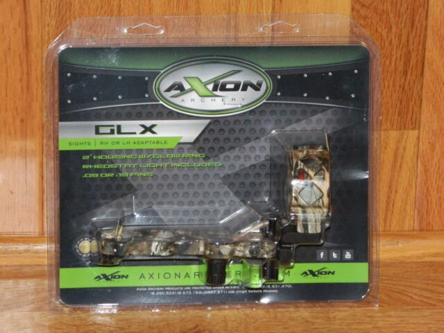 NEW Axion GLX 5 Pin Bow Sight- Right OR Left Hand- .019 Pins- Mathews Lost Camo