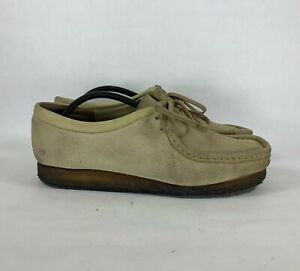 Clarks-Originals-Wallabees-Men-Sz-11-Low-Tan-Suede-Leather-Crepe