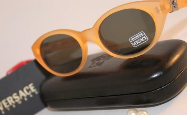 0f1269e4e0c New~GIANNI VERSACE~Logo~ 428~ORANGE Yellow Silver~Sunglasses~290 A ...