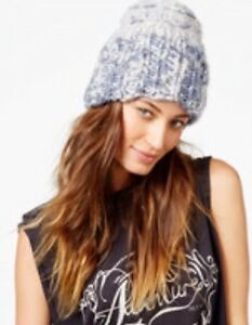ecd1b2d35ea Free People Blue Combo Limitless Cuff Beanie Knit Hat Cap Boho Chic ...