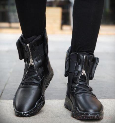 Gli uomini famosi nero red oxfords stile alte in stile oxfords coreano scarpe merletto zip. 560f49