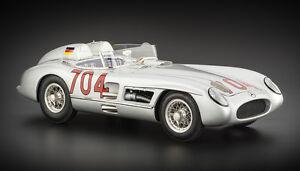 Cmc 1/18 Mercedes-Benz 300 slr (w196s) mille Miglia Winner 1955 # 722 Article: M-119