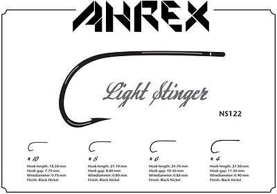AHREX Haken NS172 CURVED GAMMARUS #6 black nickel 18 Haken CURVED GAMMARUS #6