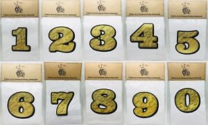 """Details about 5"""" NUMBER DECAL 0-9 GOLD LEAF Vinyl lettering sign name text  sticker flake paint"""