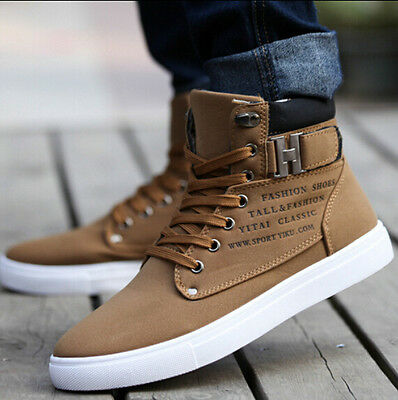2018 Hot Men Shoes Fashion Spring Autumn Leather Shoe For Men Casual High Top