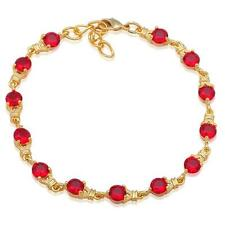 TB837 AAA Zirconia Charm Bracelet Fine 18k gold filled Garnet fashion jewelry