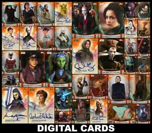 Topps-Star-Wars-Trader-WOMEN-OF-STAR-WARS-Wave-2-37-CARD-ORANGE-SIGNATURE-SET