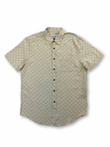 Portuguese Flannel El Dorado cotton shirt in beige and red