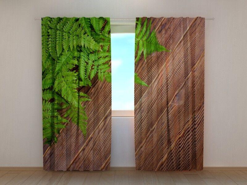 Fotogardine  Holz Holz Holz  Vorhang mit Foto, Fotovorhang, auf Maß   Spaß  4e65d8