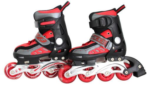Kinder Inliner Inline Skates Rollschuhe mit LED Größe 31-34 verstellbar