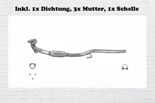 Auspuffanlage VW Polo 9N 1.2 Auspuff Mitteltopf Endtopf Hosenrohr  Bj.01-05