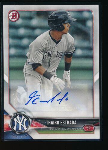 THAIRO ESTRADA AUTO 2018 Bowman Paper Autograph New York Yankees Rookie Card RC