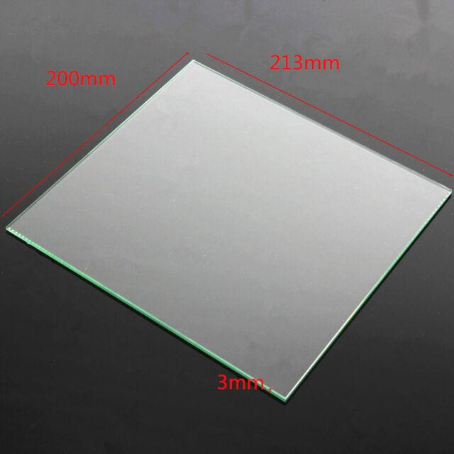 MK2 Heat Bed Borosilicate Glass Plate 213x200x3mm Tempered For Reprap 3D Printer