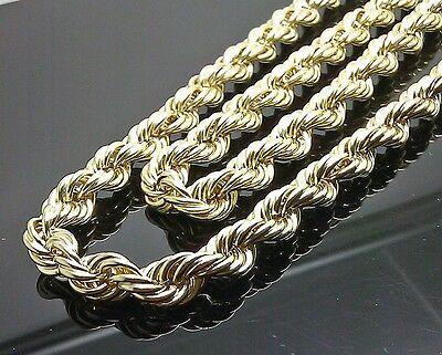10k Yellow Gold Thick Rope Chain 20 Inch 9mm Franco