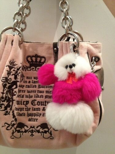 choose  color Real Fur keychain key ring Cell Phone Charm Bag Pendant